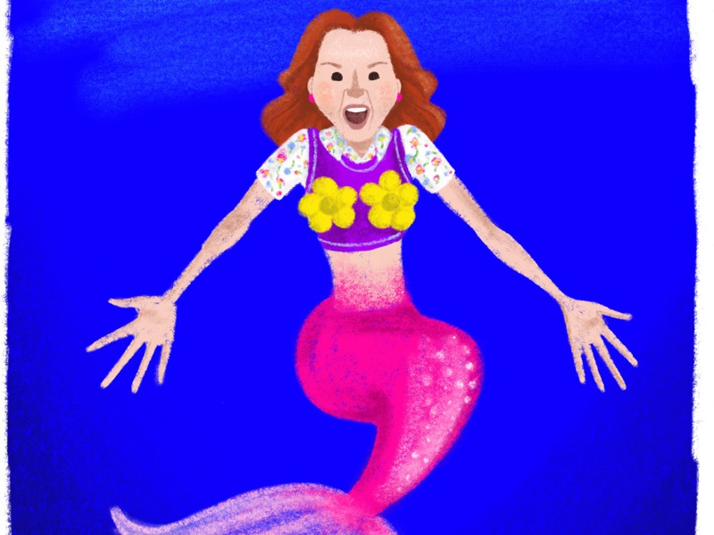 Mermaid Kimmy Schmidt procreate ellie kemper mermay mermaid mole woman unbreakable kimmy schmidt