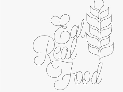 Eatrealfoodscript food truck type wheat food tagline