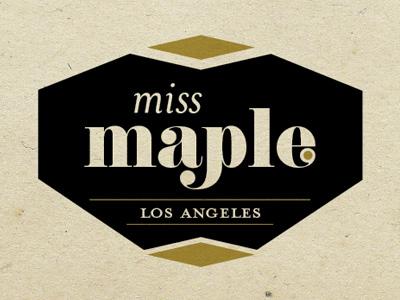 Missmaple1 bakery los angeles logo