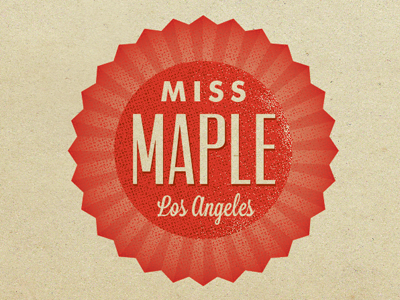 Miss Maple LA bakery los angeles logo sweets seal cupcake baked goods pink vintage