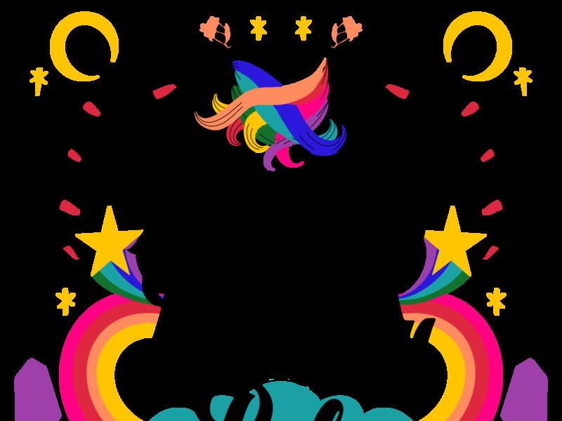 Magical Birthday Babe horoscope mystical tarot psychedelic rainbow babe magical magic unicorn birthday