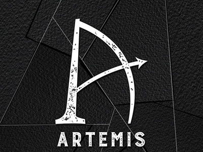 Artemis Logo Black Watercolor
