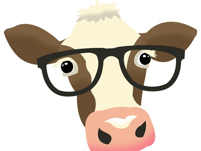 Glasses Cow