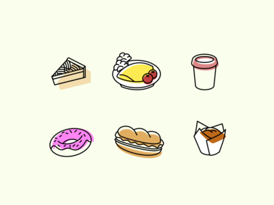 Breakfast Cafe Icons