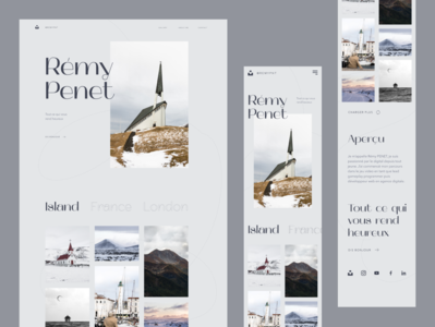 Photographer Personal website design