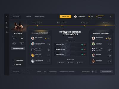 CS GO games interface creativity daily interfaces dark ui interface design design web webdesign interaction game interface ui website