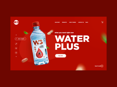 Water Plus Design main page landing creativity design homepage daily web webdesign ui landing page website