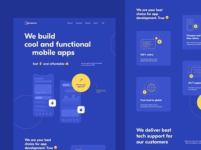 Go Mobile Fast Landing page landing creativity design homepage ui daily web webdesign landing page website
