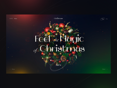 Feel the Magic of Christmas clean minimal main page holiday daily web webdesign landing page ui website christmas tree christmas