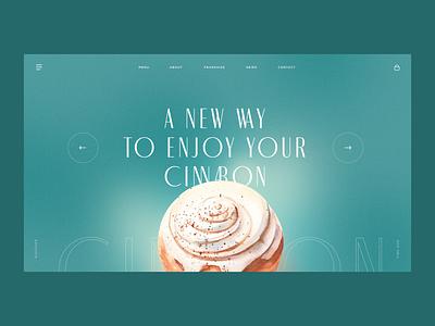 Cinnabon Landing Page Concept candy cinnamon food tasty creativity design homepage daily web webdesign ui landing page website