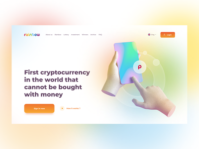 Cryptocurrency Landing page design rainbow crypto illustration design homepage daily web webdesign landing page ui website