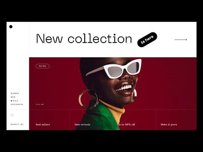 Sunglass Shop Concept Design shop ecommerce landing page sunglass design web homepage daily website animation ui