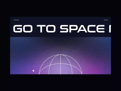 Go to Space design concept cosmos space animation design homepage daily web webdesign landing page website ui
