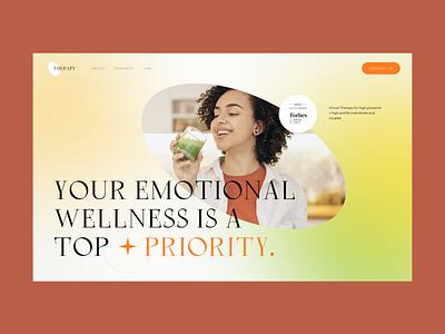 Psychotherapist Landing Page Concept homepage psychotherapy daily design web webdesign landing page ui website