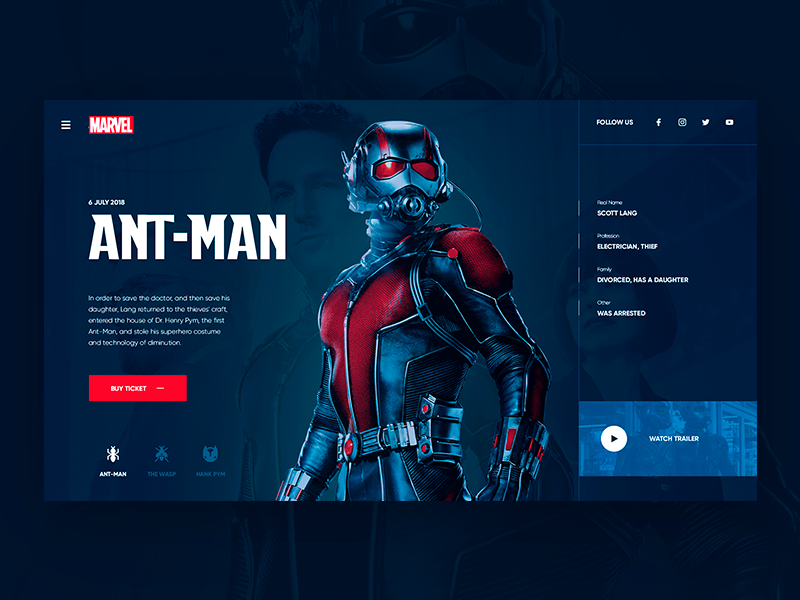 Ant-Man Daily UI | Search by Muzli