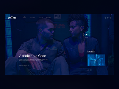 The Expanse Daily UI landing ui trend play video website web serial