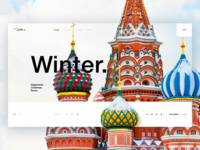 Winter. Moskow. Daily UI