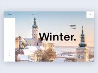 Winter. South Moravia. Daily UI