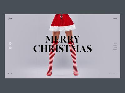 Christmas Daily UI FREE PSD psd free freepsd creativity main page landing ux red homepage minimal santa new year christmas design daily webdesign web ui landing page website