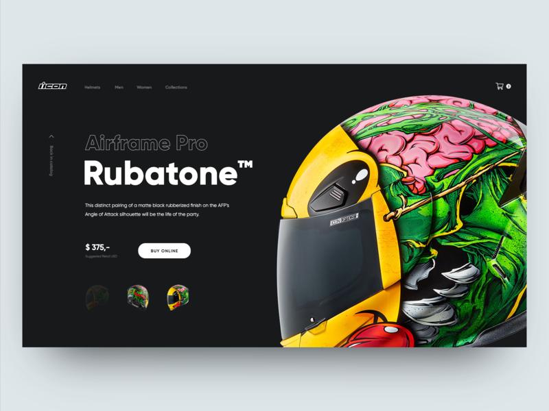 Icon Motorcycle Gear Page landing design daily minimal landing page webdesign web ui website