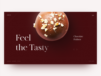 Confectionary Art Home Page Concept clean homepage landing design daily landing page chocolate candy webdesign web ui website