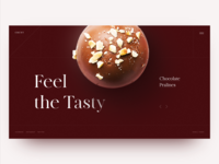Confectionary Art Home Page Concept