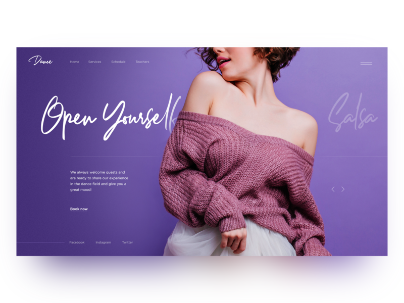 Dance School Home Page Concept landing dance illustration main page creativity design homepage daily webdesign ui web landing page website