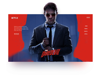 Marvel's Daredevil Home Page Concept