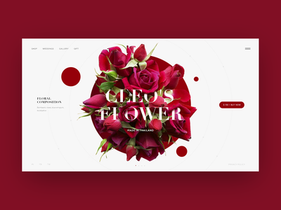 Flower Shop Homepage Concept