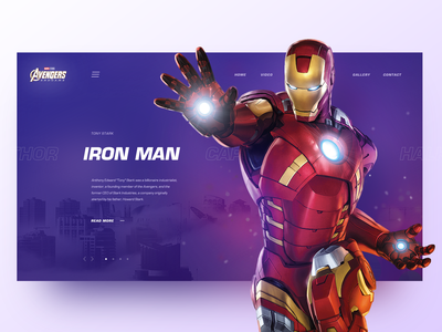 Avengers-Inspired Live Design Demo clean main page landing creativity design homepage daily webdesign avengers ui web landing page website