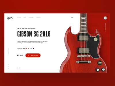 Gibson SG Guitar Home Page Concept