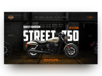 Harley Davidson Street 750 Home Page Concept
