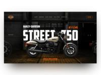Harley Davidson Street 750 Home Page Concept
