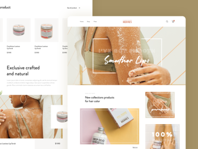 Hand Made Heroes Home Page beauty cosmetic landing design homepage ui daily webdesign web landing page website