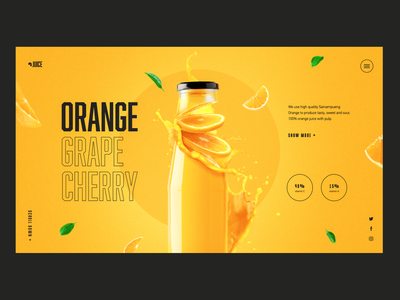 Orange Juice Concept daily main page creativity design web homepage webdesign landing page ui website