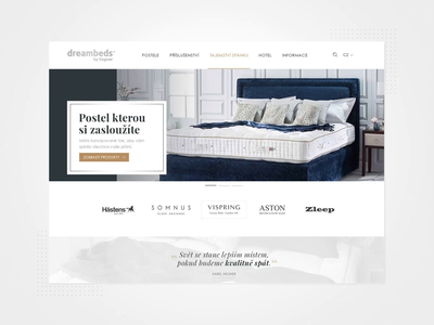 Dreambeds Website Interactions interaction design web animation webdesign website ux web ui visual design graphic design design