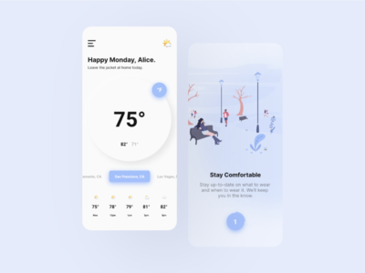Weather App Concept neumorphism ui weather mobile minimal