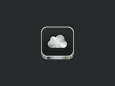 iOS Icon iphone ipad icon cloud disk aluminium