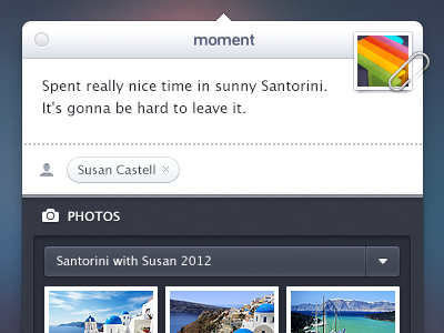 Moment App UI moment osx app ui menubar