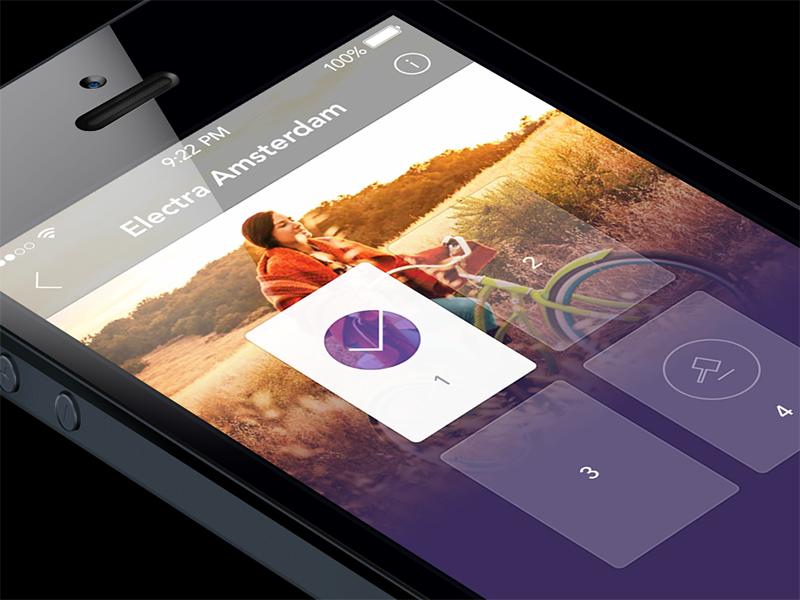 App Detail ios 7 iphone photo cards
