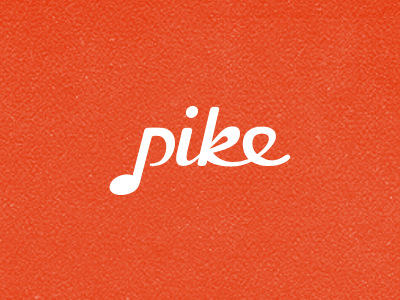Pike App logo app web app logo red note music