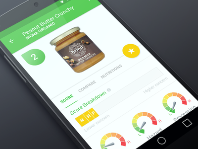 EWG Food for Android android material food green ewg