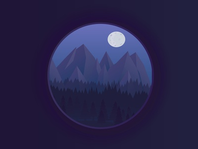 Night mountain landscape.