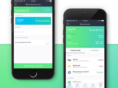 Edison Bank App - My accounts & Transfer Money