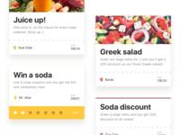 Food rewards & coupon mobile app UX UI design