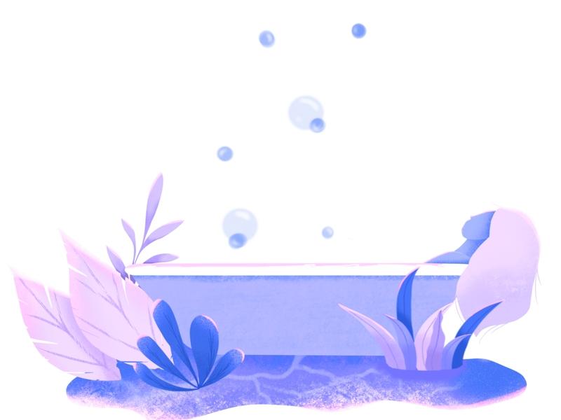 "Bath tub girl ""Amanda"" - Soak your troubles away design illustration digital painting digital illustration digital art procreate art procreate app procreate flat illustration web illustration"