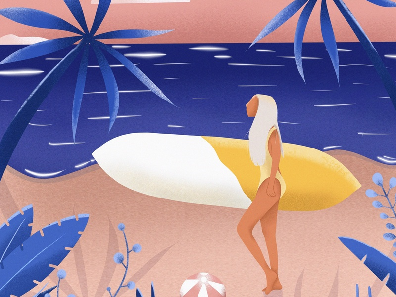 Bree's Happy Place beach website web design flat branding web illustration digital painting illustration procreate art procreate procreate app digital illustration flat illustration digital art
