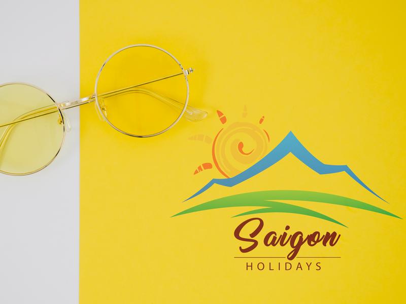 SAIGON HOLIDAYS LOGO vector design branding logo illustration