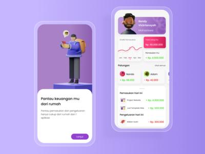 Finance Management UI Design finance app illustration apps design uiuxdesign mobileui design ux ui design ui