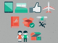 Internet Startup Flowchart Icons